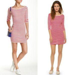 J Crew Edith A Miller Colla Boat Neck Stripe Dress